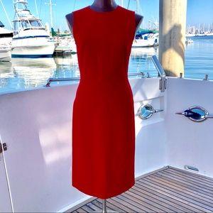 Zara Red Sleveless Midi Dress size Small